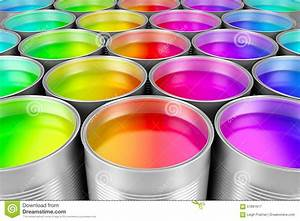 Paint Cans Of Colorful Paint Stock Illustration