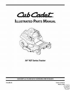 Cub Cadet Parts Manual Model No  Rzt 50