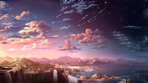 Anime Scenery Wallpaper - anime scenery wallpaper 2048x1152 search anime