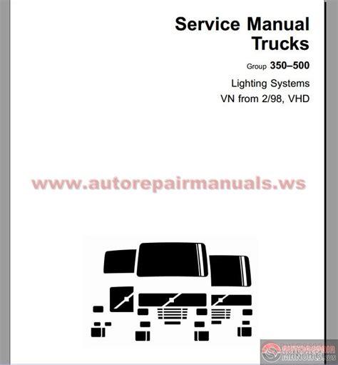 volvo vnvhd    service publications
