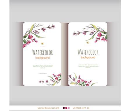 Beautiful Watercolor Flower Business Cards Vector Set 11 Business Card App Hubspot Avery Template Publisher Chapter American Psycho Modern Templates Ai Vector Massage Art Ideas For Salesforce