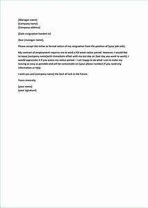 Formal Resignation Letter Example Formal Resignation Letter Sample With Notice Period Task