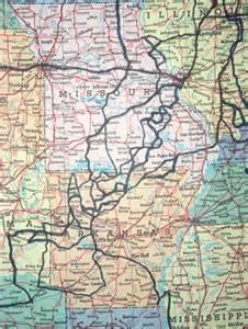 Arkansas Missouri Ozarks Map