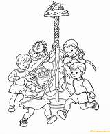Coloring Spring Maypole Children Dance Printable Nature Sheets Pole Beltane Bestcoloringpagesforkids Sheet Results Coloringpagesonly Worksheets Printing sketch template