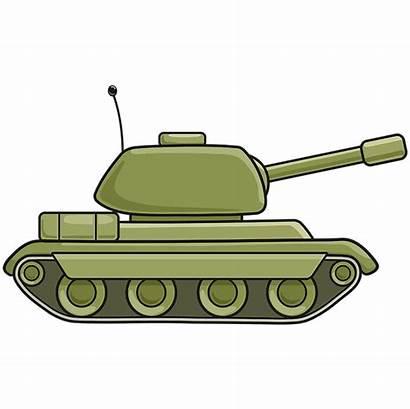 Tank Draw Drawing Easy Tanks Cartoon