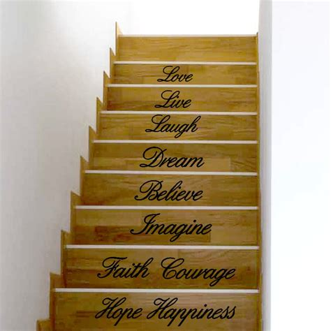 The live, dream, laugh, happy, love wall décor is an inspirational reminder to enjoy life to the fullest. Wall Stickers Live Laugh Love Dream Believe Imagine Faith courage Hope Happiness Decal Removable ...