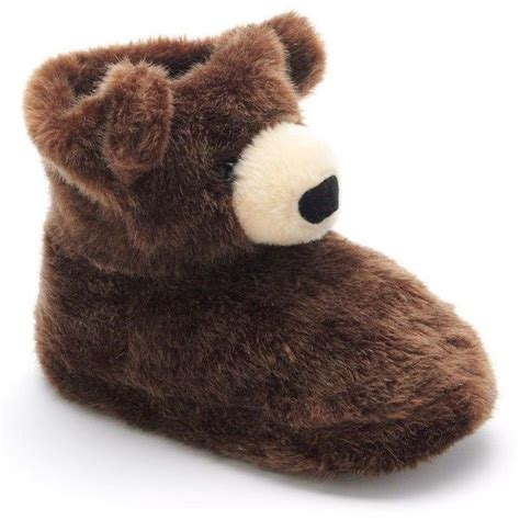 grizzly bear bootie slippers juniors    polyvore  style bear slippers