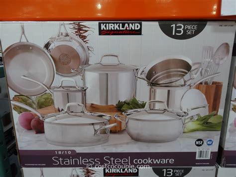 kirkland cookware stainless signature steel 13pc costco
