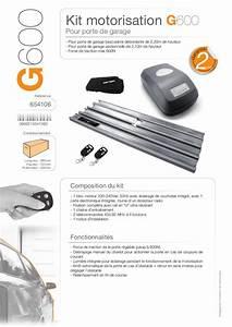 Kit de motorisation pour porte de garage basculante for Kit motorisation porte de garage