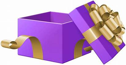 Gift Open Transparent Clip Purple Clipart Gifts