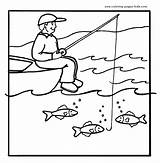 Fishing Coloring Printable Sheets Fish Colouring Adult Adults sketch template