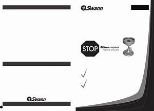 Download Swann Security Camera 105 Manual And User Guides
