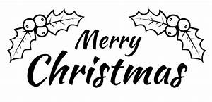 Merry Christmas Clipart Black And White – Fun for Christmas
