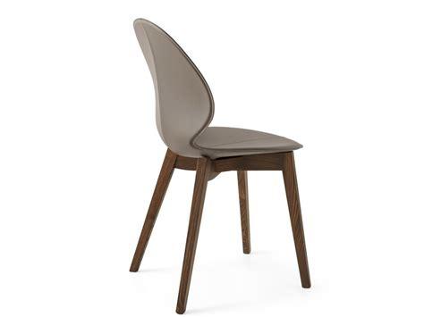 sedie in cuoio calligaris sedia imbottita in cuoio basil w by calligaris design
