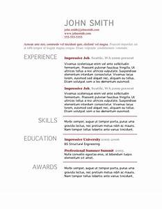 7 free resume templates for Free resume layouts microsoft word