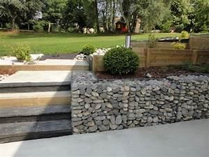 escaliers et murets rebeyrol createur de jardins With muret de soutenement jardin