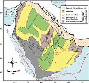 Schematic Structural Map Of The Arabian Plate Showing The
