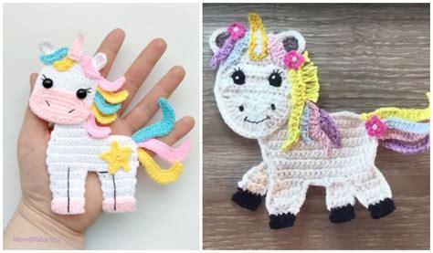 unicorn applique crochet patterns  paid