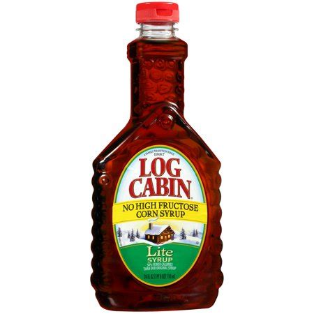 log cabin syrup log cabin lite reduced calorie syrup 24 fl oz walmart