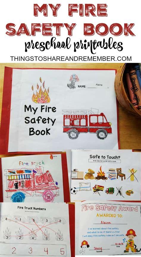 preschool safety booklet printables