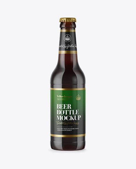 The best bottle mockups free download for your next project. 330ml Amber Glass Bottle with Lager Beer Mockup - 330ml ...