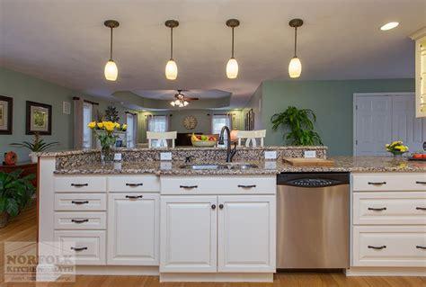 kitchen remodel nashua  linen cabinets  custom bench