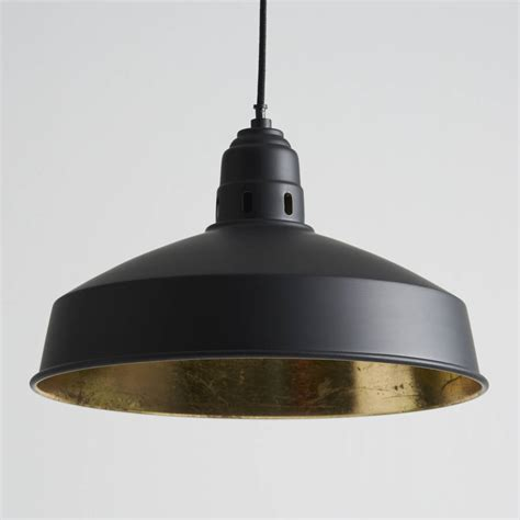 black and gold pendant lights by horsfall wright