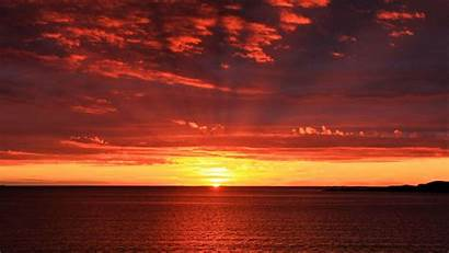 Sunrise Sun Horizon Wallpapers 4k Sea Gfriend