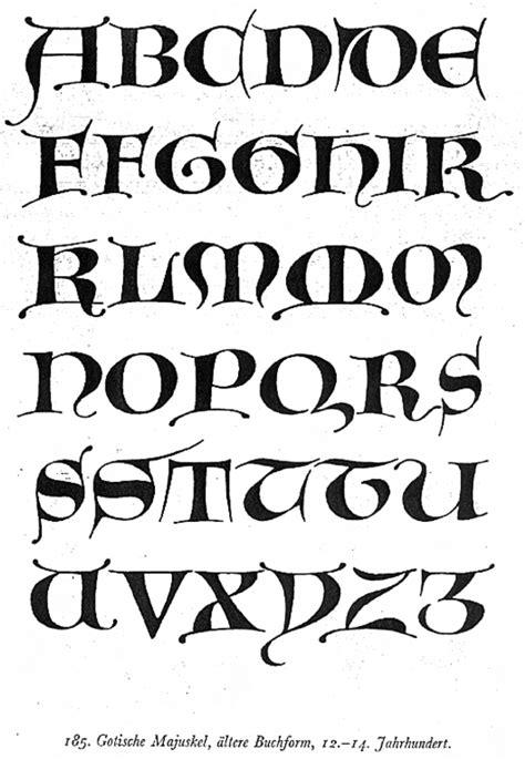 lettere alfabeto gotico alfabeto gotico