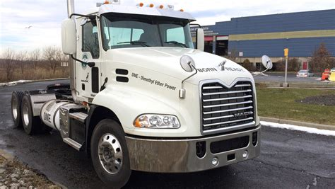mack trucks tests alternative fuel dme volvo group