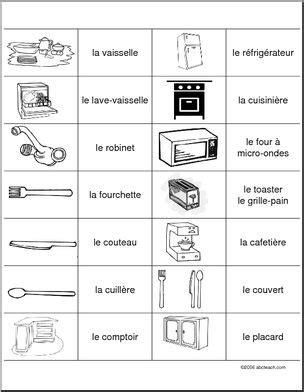 vocabulaire de la cuisine association de vocabulaire de cuisine abcteach