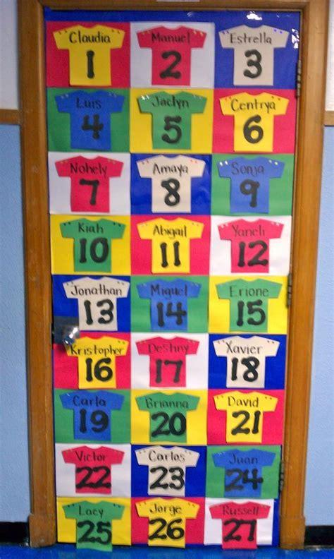 fun idea   sports theme classroom door