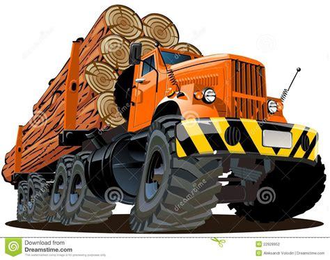 volvo tractor trailer for sale vector cartoon logging truck stock vector image 22928952