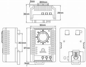Din Rail Mounting Miniature Humidistat For Electrical