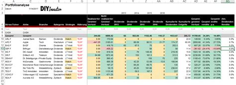 diy portfolio tracking tool  excel version diy investor