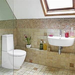 Attic bathroom with sloping ceiling small bathrooms for Small attic bathroom sloped ceiling