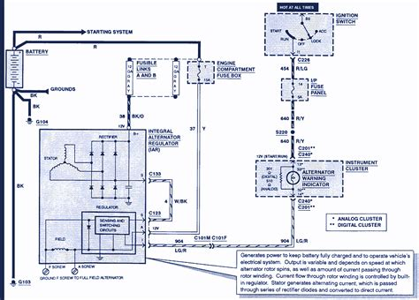 Ford Alt Wiring by 1999 Ford Windstar Wiring Diagram Electrical Website