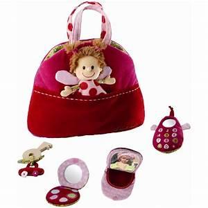 Sac Bébé Fille : jouet d 39 veil b b sac main r versible liz 10 sur allob b ~ Teatrodelosmanantiales.com Idées de Décoration