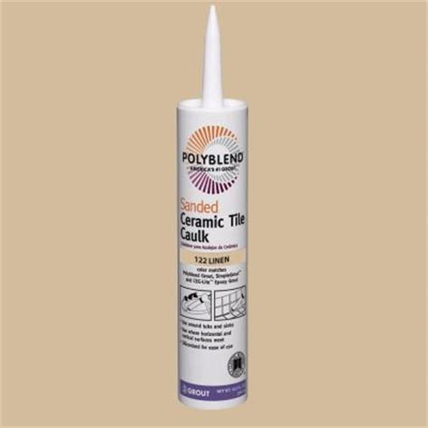 Polyblend Sanded Ceramic Tile Caulk New Taupe by Custom Building Products Polyblend 122 Linen 10 5 Oz