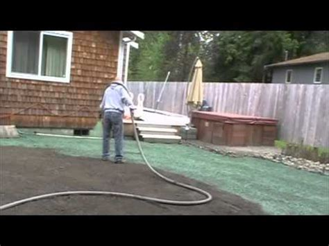 how to hydroseed a lawn home made hydro seeder doovi