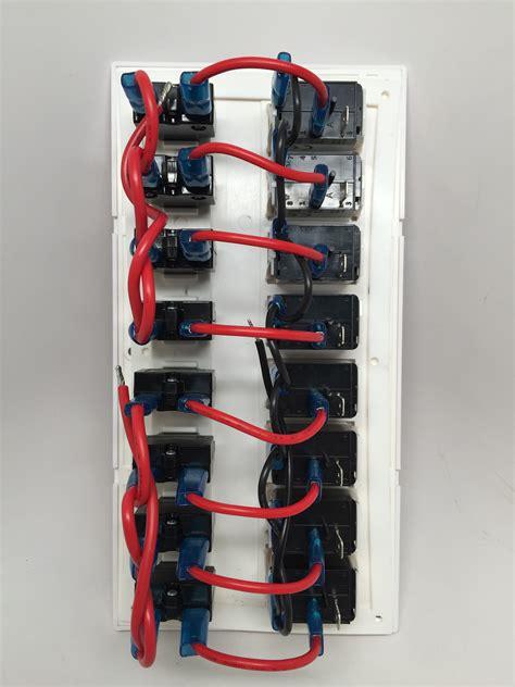 marine boat white switch panel  gang red led indicator