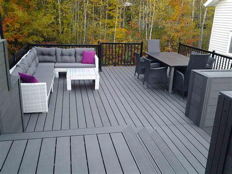 terrasse en composite ezdeck design patio en composite ezdeck design gsq