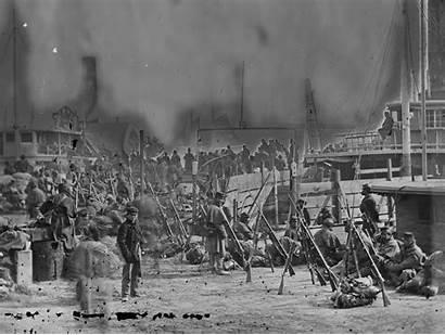 Union Soldiers Waiting Aquia Creek Monroe Fort