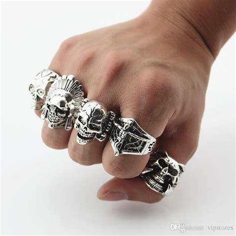 2019 Mixed Styles Punk Biker Skull Ring For Man Gothic. Pair Rings. Ring Necklace Rings. Dna Wedding Rings. Black Wedding Rings. Pimp Rings. Brushed Titanium Wedding Rings. Unconventional Man Wedding Rings. Hair Rings