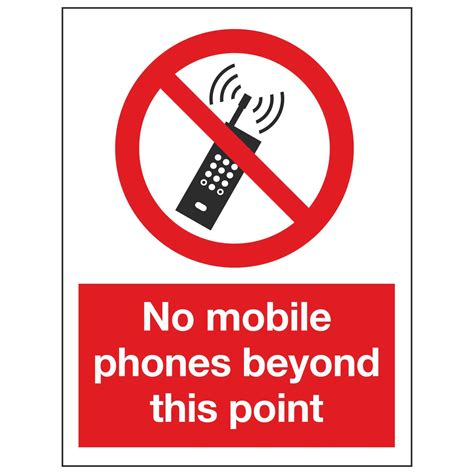 No Mobile Phones Beyond This Point Linden Signs And Print