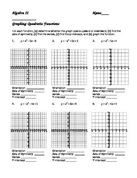 Graphing Quadratic Functions In Standard Form Worksheet Answers Livinghealthybulletin