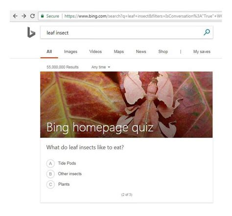 Play The Bing Trends Quiz Learn Earn And Have Fun With