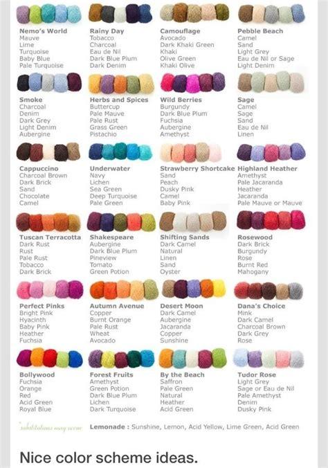 colors  good  color scheme idea chart