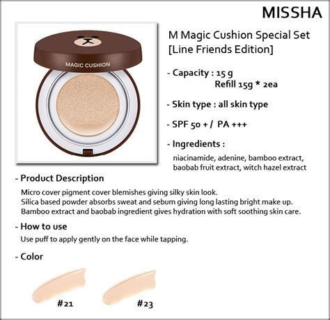 Harga Missha Line Cushion review missha m magic cushion line friends gấu brown