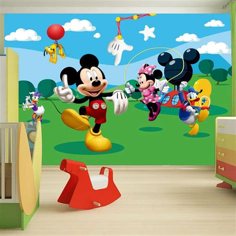 Mickey Mouse Clubhouse Bedroom Curtains by Childrens Bedroom Disney Character Wallpaper Wall Mural